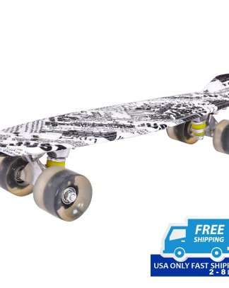 Concise 2 Colors Skateboard with Semi-transparent Wheels