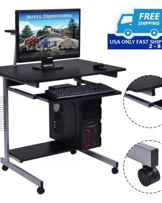 Rolling PC Laptop Computer Desk