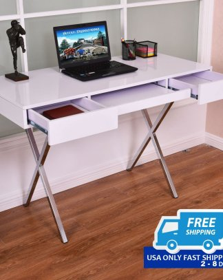 Computer Desk Table Workstation with Keyboard Tray