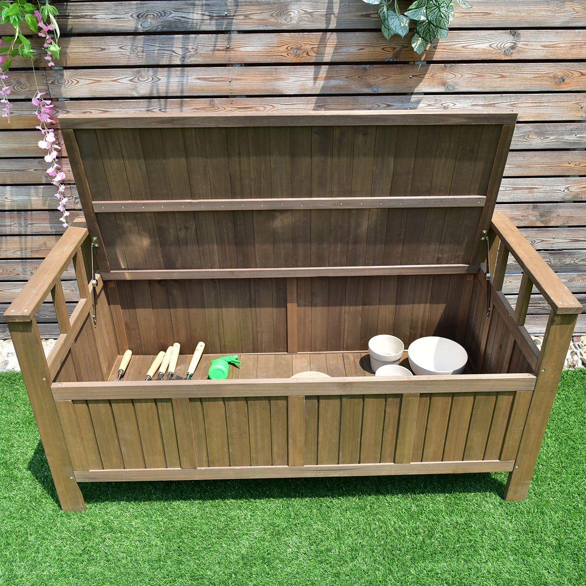 Amazing 70 Gallon 2 In 1 Outdoor Garden Bench Storage Deck Box Uwap Interior Chair Design Uwaporg