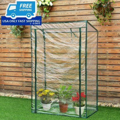 """40"""" x 20"""" x 59"""" Garden Greenhouse with PVC Cover"""