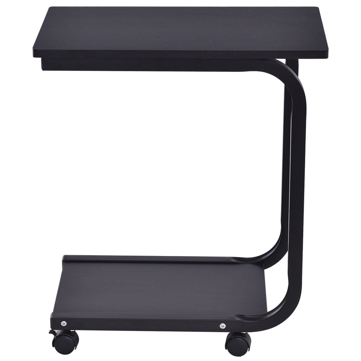 2 Tier Snack Stand Rolling Sofa Side Table By Choice