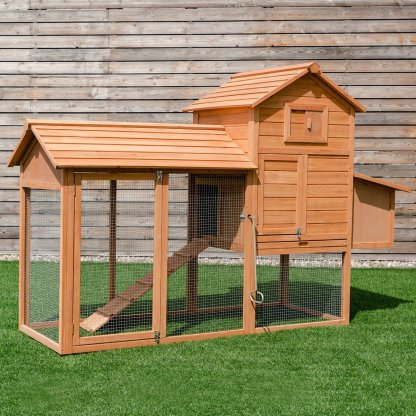 """80"""" Chicken Coop Cage Large Wooden House"""