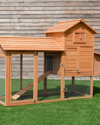 "80"" Chicken Coop Cage Large Wooden House"