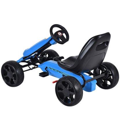 Outdoor Kids 4 Wheel Pedal Powered Riding Kart Car