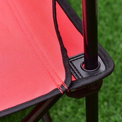 Black/Red Portable 6 Seats Folding Chair W/Carry Bag