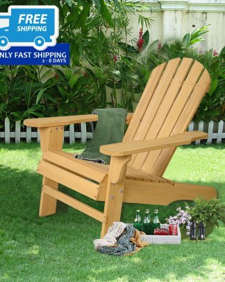 Outdoor Natural Fir Wood Adirondack Chair