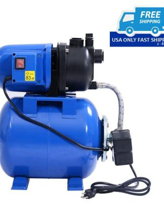 1200W Garden Water Pump Shallow Well Pressurized Home Irrigation 1000GPH