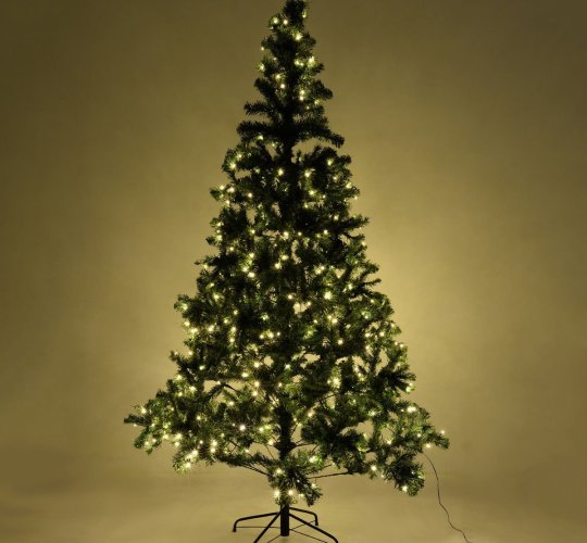 8 ft pre lit artificial christmas tree w stand 450 led lights - 8 Ft Christmas Tree