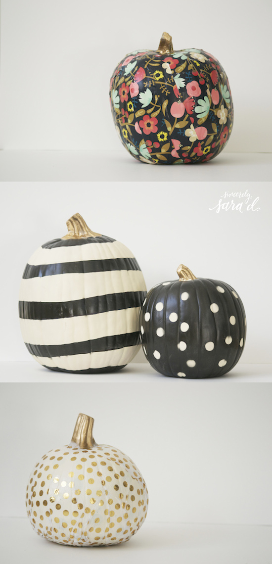 paint some graphic pumpkins