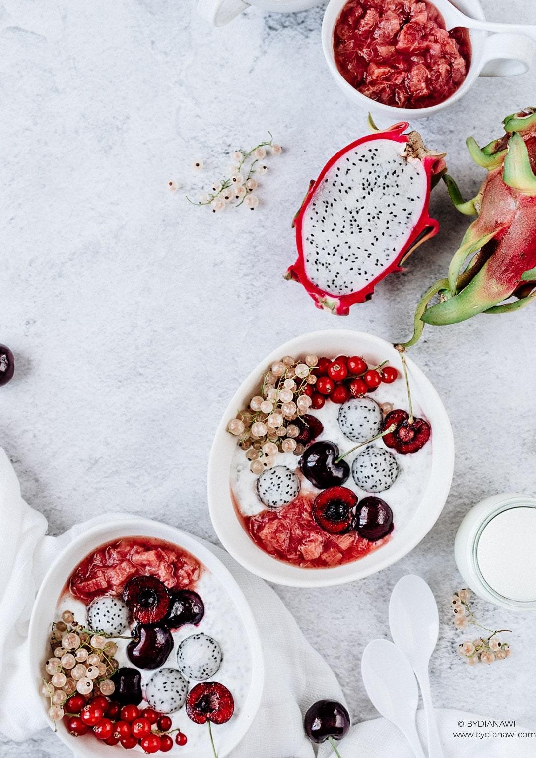 rabarberkompot, opskrifter med rabarber, morgenmad