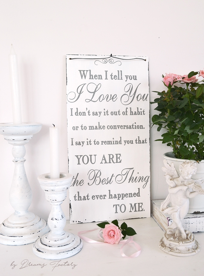 'When I tell you I love you' sign + free printable