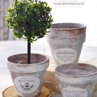 DIY Aged French Terracotta Pots + free printable