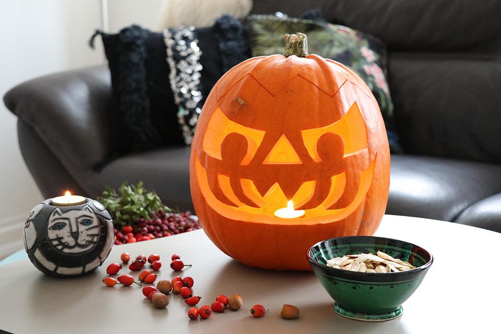 Græskarlygte til Halloween DIY guide