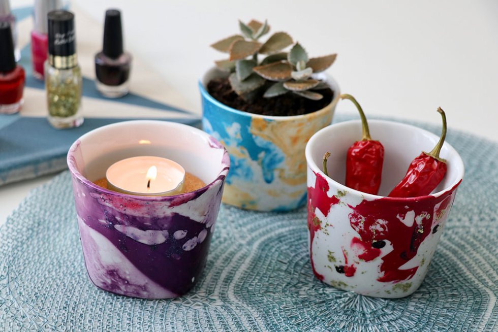 DIY upcycling: dekorer med neglelak