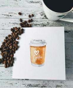 Kaffe på farten kort