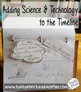 adding science and technology to the timeline