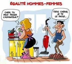 L'homme participe aux tâches domestiques