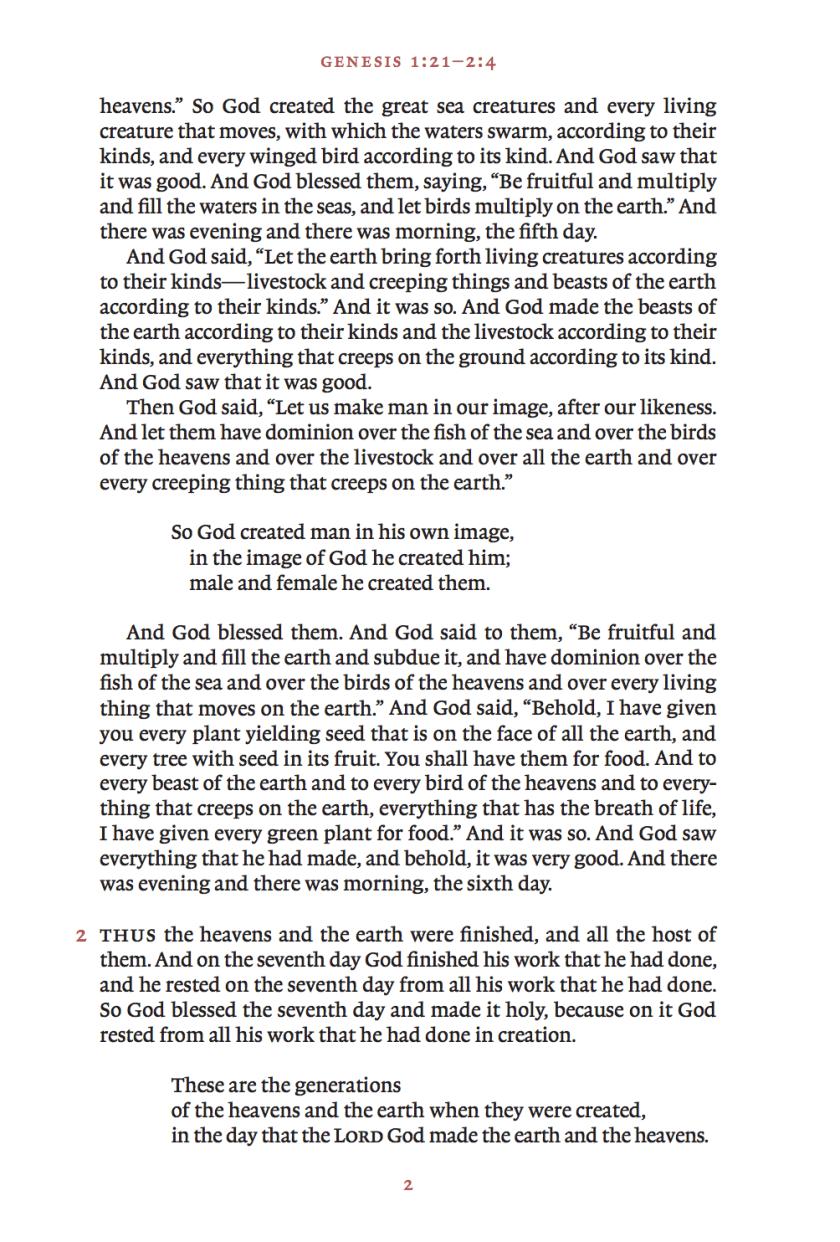 ESV Reader's Bible excerpt
