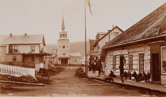 Indian Avenue in Sitka, Alaska, 1892