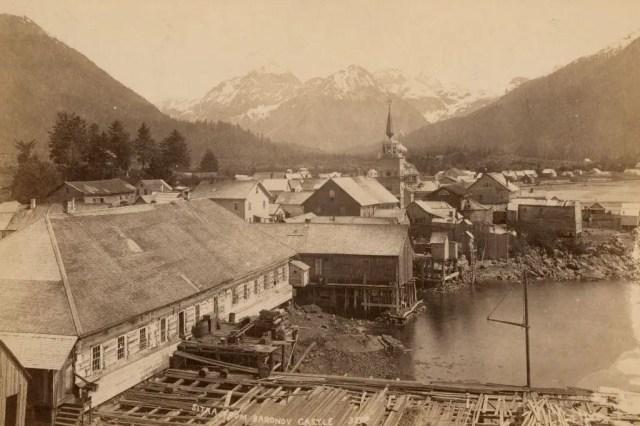 Sitka from Baronov Castle, Alaska, 1893.