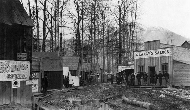 Clancy's Saloon, Alaska, 1897.