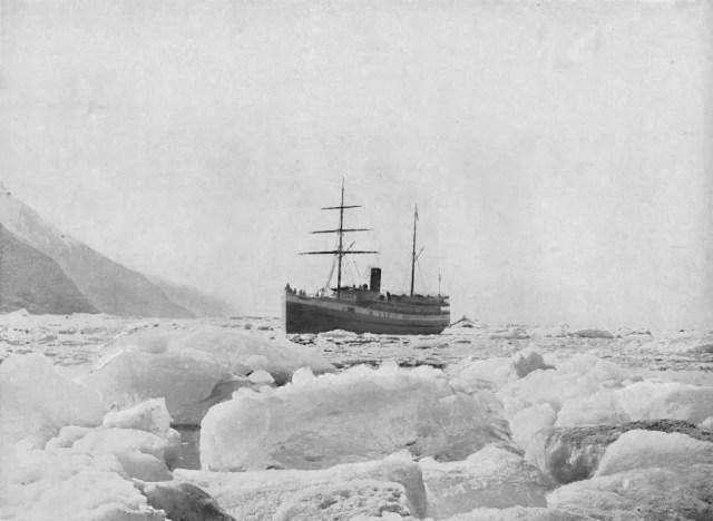 "Steamer ""Queen"", Glacier Bay, Alaska', circa 1897."