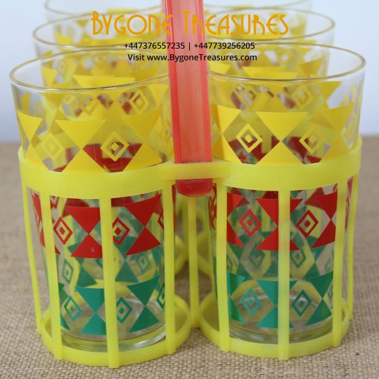 French Glasses With Caddy – 1960's