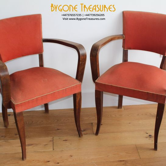 Set Of Two Bridge Chairs – 1920's