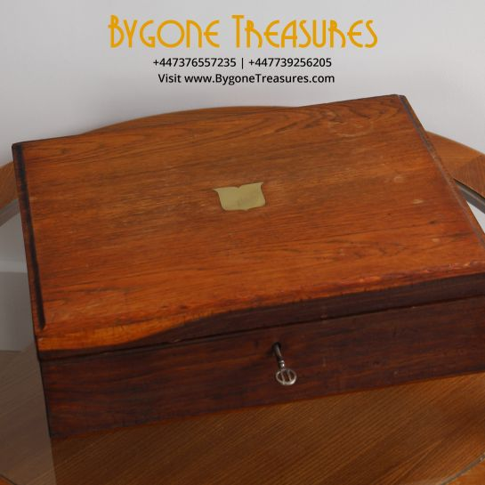 Large Ex-Cutlery Box With Original Key
