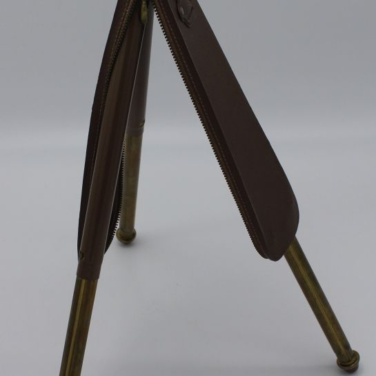 Vintage 1970s German Bilora Brass Camera Tripod With Leatherette Case