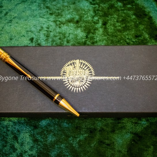 Parker Duofold black Ball Pen 23K gold plating in box with certificate