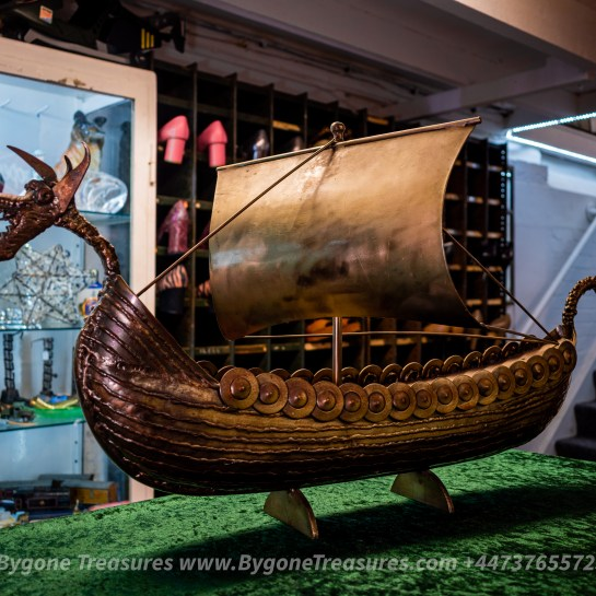 Danish Folk Art Viking Long Boat