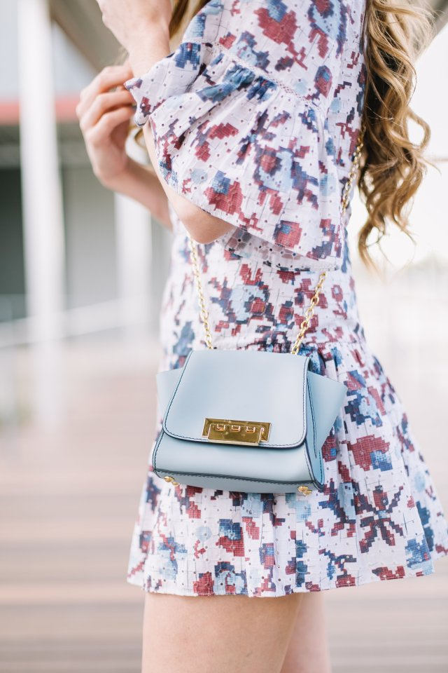 How to Rock the first day of spring in a floral romper from rent the runway and Joie heels   By Hilary Rose   Austin Blogger