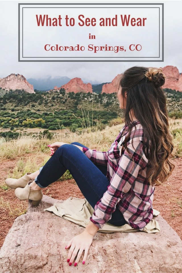 Colorado Springs what to see and wear travel blog plaid shirt fall weather rocky mountains vacation