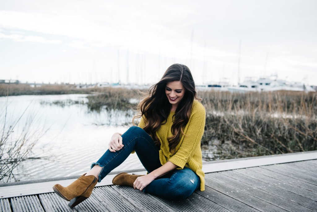 by hilary rose charleston city marina low country blogger southern style frye company madeline booties nordstrom comfy casual sweater