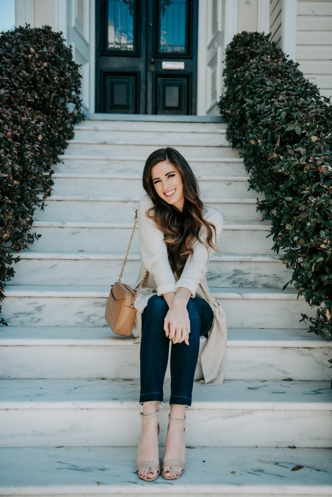 Charleston marble steps casual sweater nordstrom treasure and bond cardigan skinny jeans baublebar earrings tory burch bag free people bralette holy city low country steve madden carson heels battery