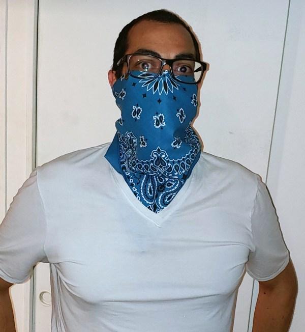 Chrysalis Bandana Mask with 2 layer silk snap-in