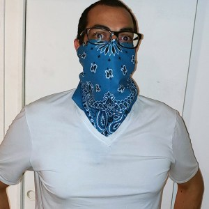 Chrysalis Bandana Mask with 2 layer silk snap-in