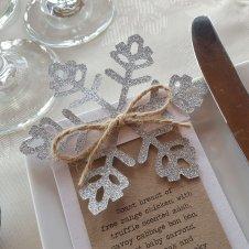 glitter snowflake menu