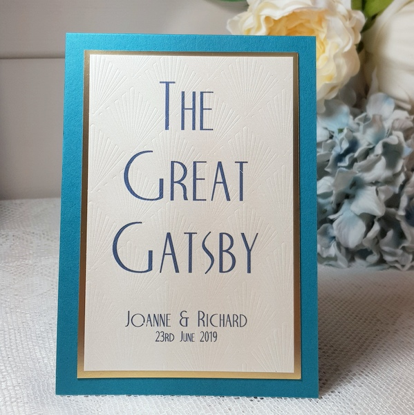 great gatsby theme wedding sign