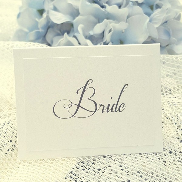 calligraphy wedding place card