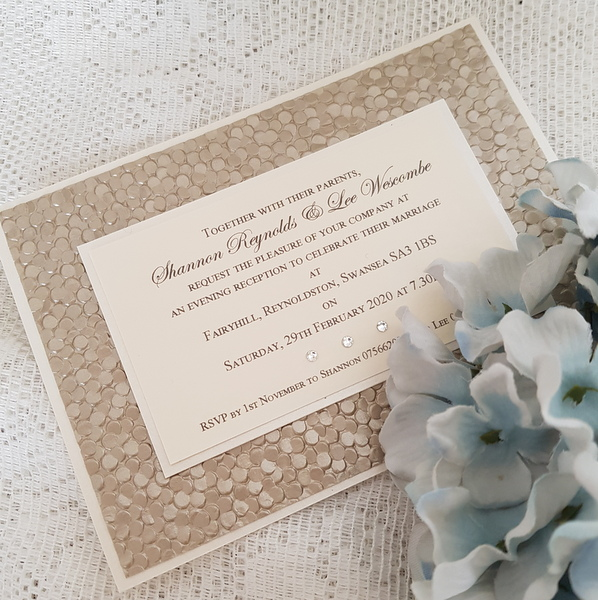 sequin sparkle flat evening invitation