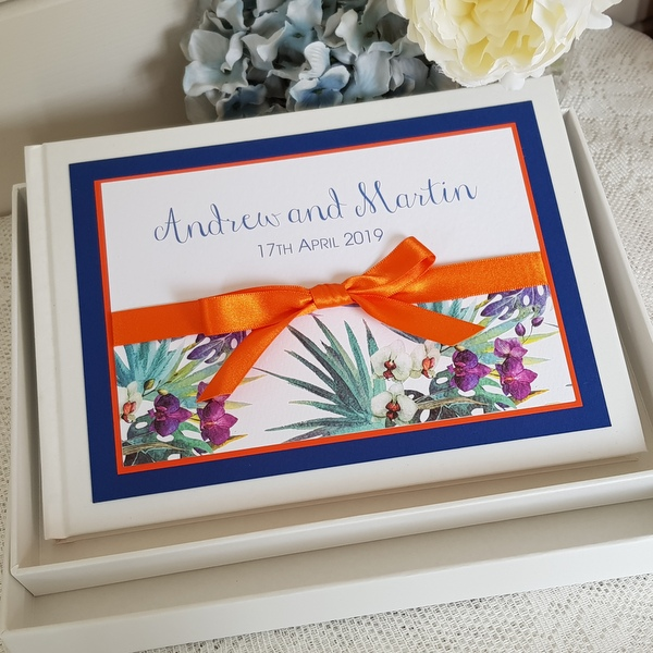 tropical theme guest book
