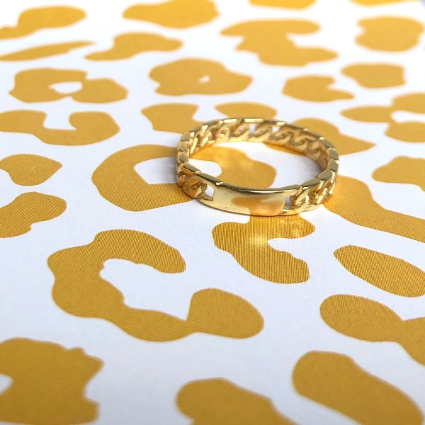 chunky chain ring goud
