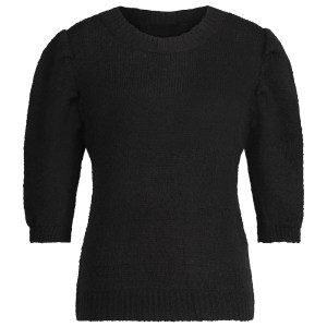knitted top classic black