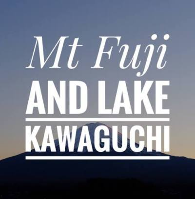 Hồ Kawaguchi núi Phú Sĩ