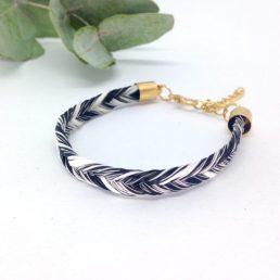bracelet en crins Toulago doré épi