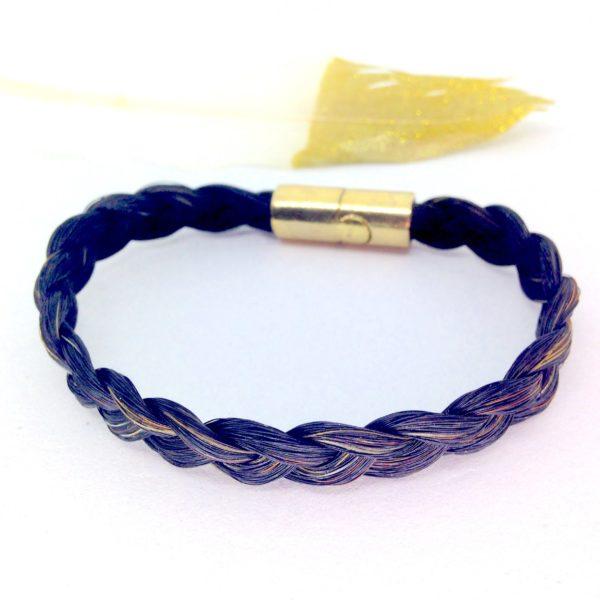 Bracelet en crins molly malone simple doré