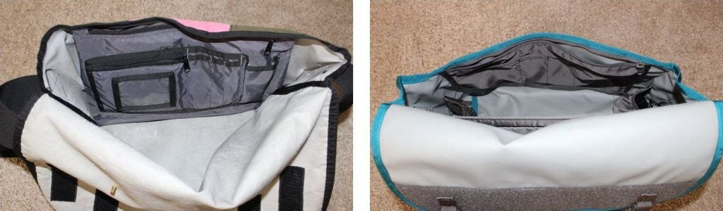 """I never used the """"ID window"""" on my original bag, but I suspect I'll miss that smaller zippered pocket you can see just above the """"ID window""""!"""
